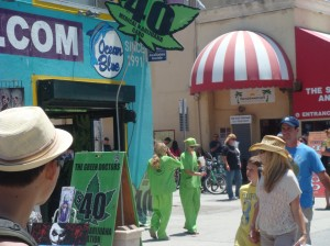 Marijuana doctors on duty in Venice Beach, California.