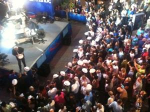 MSNBC host Chris Matthews meets his fans.