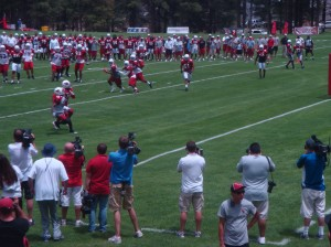 Arizona Cardinals training camp in Flagstaff.