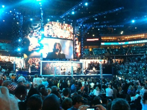 The Foo Fighters rocking out at the DNC 2012.