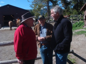 Bob, right, with Terry and Don at the Mammoth Corrals.